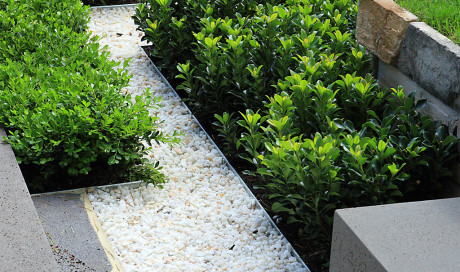 Edging at ground level - Formboss Metal Garden Edging | lawn edging | landscape edging | garden design
