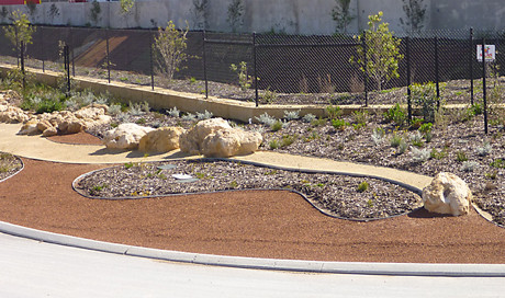 Public Installations - Formboss Metal Garden Edging for lawns, garden beds and Driveways
