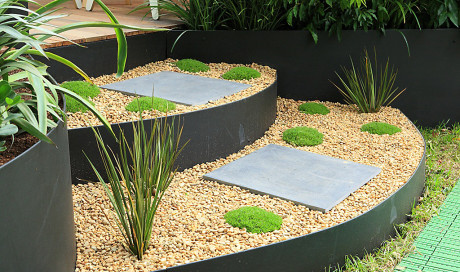 Other / Painted - raised garden beds from formboss metal garden edging