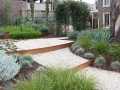 Steel steps created out of corten steel garden edging - garden edging | Metal Garden Edging | lawn edging | landscape edging |  garden design